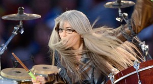 Evelyn Glennie at Olympic Opening Ceremony, 2012.  (Photo by Smiley N. Pool / Houston Chronicle)