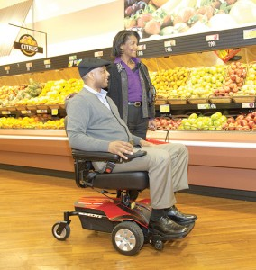 Wheelchair shopping