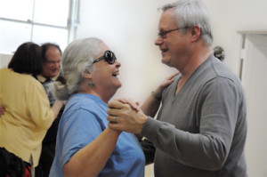 Dancing at the East Bay Center for the Blind